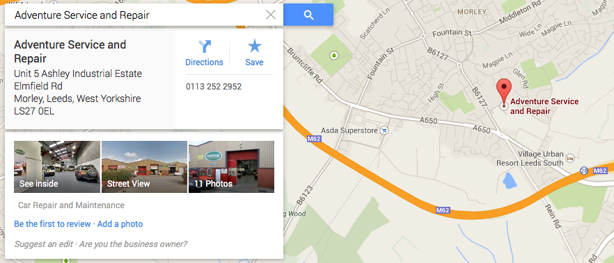 Google Maps and Streetview Adventure Land Rover Service and Repair Morley Leeds