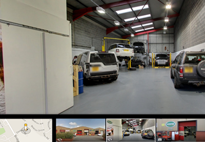 360 view of Land Rover Service and Repair Morley Leeds